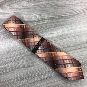 Van Heusen Orange Pattern Tie